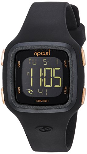 Rip Curl – Relógio esportivo feminino de plástico e silicone, Relógio feminino Rip Curl Candy Plastic e Silicone esportes aquáticos e Surf, Rose Gold, 1SZ