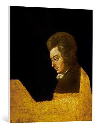 Kunst für Alle Reproduction sur Toile: Wolfgang Amadeus Mozart Mozart am Klavier - Impression d'art de Haute qualité, Toile sur châssis, Tableau prêt à susprendre, 75x85 cm