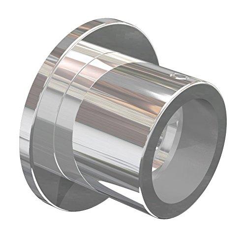 Flairdeco Nischenträger Wandlager für 20 mm Ø Gardinenstange, Metall, Chrom, 2 Stück