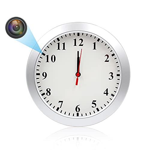 Cámara Espía Oculta, KAMREA 1080P Cámara de Video con Reloj, Nanny Cámara con Detección de Movimiento PIR, Cámara de Seguridad Interior para el Hogar y la Oficina