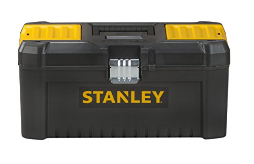 Stanley STST1-75518 Essential 16' Toolbox with Metal latches, Black/Yellow, Inch