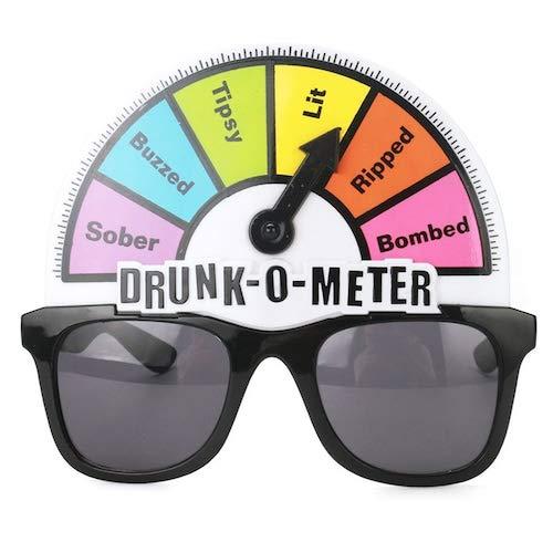 WZhen Kreative Alkoholtester Lustige Gläser Spielzeug Sonnenbrille Für Party - Multi