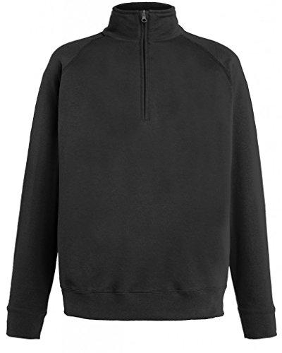 Fruit of the Loom Herren Sweatshirt Lightweight Zip Neck Sweat, Schwarz (Black 101), X-Large