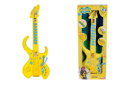 Simba 109498548 - Sponge Bob Musik Gitarre, 60 cm