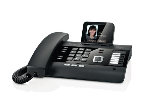 Gigaset DL500A Telefono Fisso, Multiconnessione DECT, Bluetooth, Web, Interfaccia CTI, Link2Mobile, Nero [Italia]