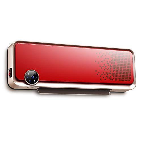 Calentador doméstico, Pared con Control Remoto, móvil Impermeable para baño, Aire Acondicionado, Rojo