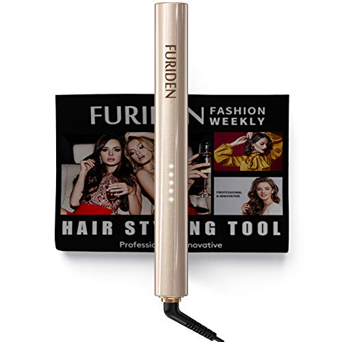 FURIDEN Hair Straightener, Hair Straightener and Curler 2 in 1, Professional Flat...