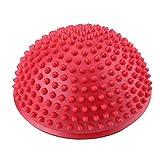 VGEBY1 Bola del Masaje del pie, Punto Inflable del Equilibrio del Equilibrio de la Bola del Masaje de la Media Bola de la Yoga para el Ejercicio del Gimnasio(Rojo)