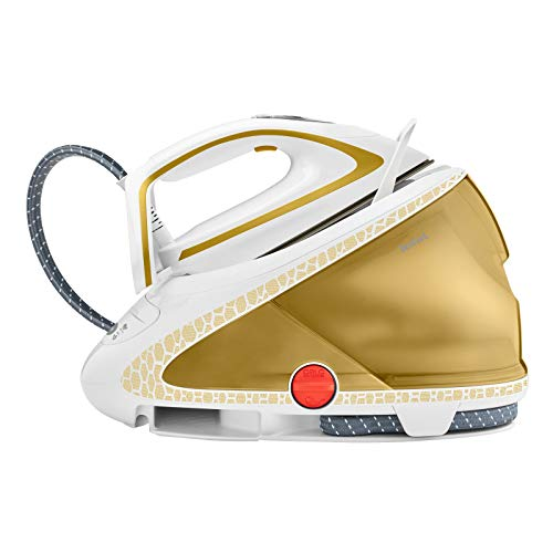 Tefal Pro Express Ultimate Care GV9581 260W 1.9L Durilium Autoclean Soleplate Oro, Blanco estación Plancha al Vapor Pro Express Ultimate Care GV9581, 260 W, 8 Bar, 1,9 L, 600 g/min, 180 g/