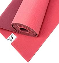 Tiggar Yoga mat - 100% Eco Friendly, Natural Rubber Material, excellent for support and stability in all types of yoga and pilates. (AZALEA, 4MM X 72)