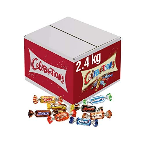 Celebrations Chocolate Bulk Box, Halloween Party Bag Fillers (Maltesers, Galaxy, Snickers and More) 2.4 kg