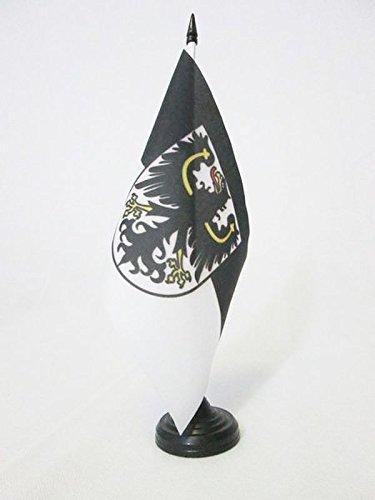 AZ FLAG TISCHFLAGGE OSTPREUßEN 21x14cm - OSTPREUSSEN TISCHFAHNE 14 x 21 cm - flaggen