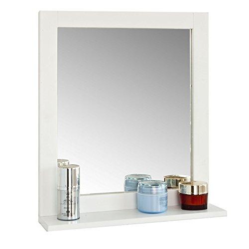 SoBuy® FRG129-W Spiegel Wandspiegel Badspiegel mit Ablage weiß BHT: 40x49x10cm
