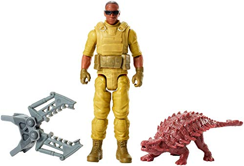 Mattel Jurassic World FMM05 - Dinofänger-Söldner und Ankylosaurus...