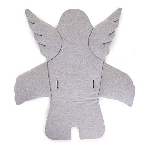 CHILDHOME Engel Kissen für Hochstuhl oder Babywippe Jersey Grau CCASCGR