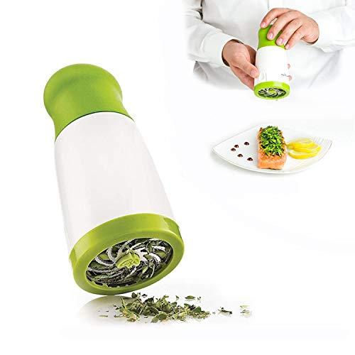 Molinillo de especias de verduras de acero inoxidable, prensado a mano, molinillo de hierbas perejil, cortador de verduras, herramienta de cocina verde