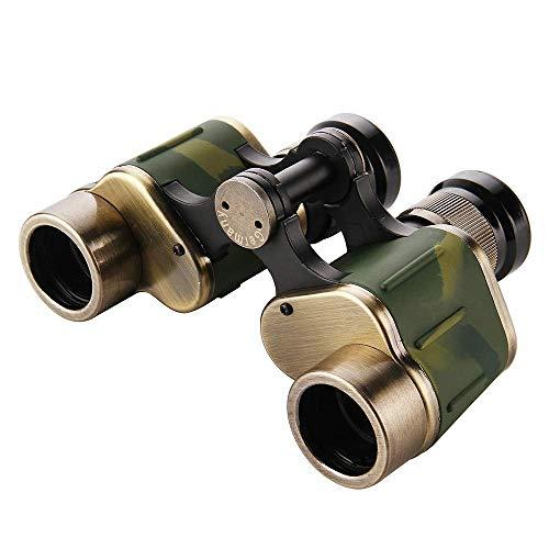 YLFANQ Regalo portátil Compacto for Exteriores de prismáticos de Alta definición de Caucho de Cobre Antiguo 6x24