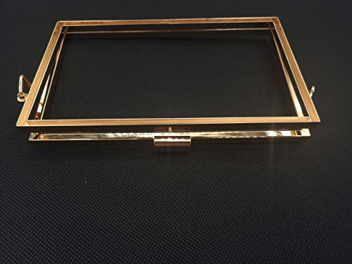 Rectangle DIY Bag Hardware Handbag Clasp Lock Metal Frame for Handmade Purse