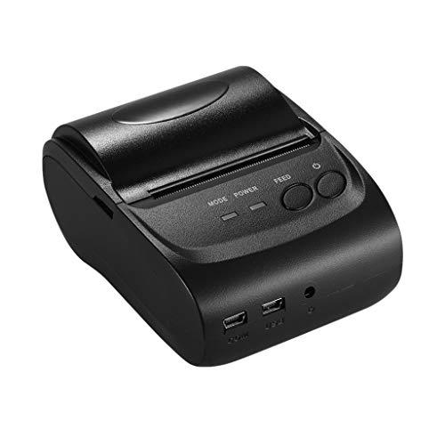 ZZHJYD Impresora portátil térmica portátil Impresora de Recibos de 58 mm for los almacenes de Venta al por Menor Restaurantes Fábricas Logística, 10 Rollos de Papel