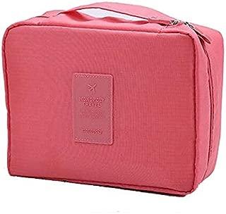 Multi-function Portable Pink Travel Bag Waterproof Nylon Toiletry Cosmetic Makeup Case