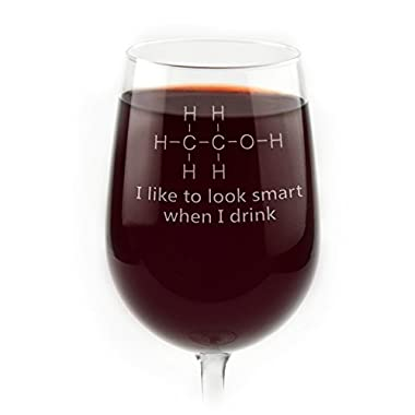 Funny Chemistry of Alcohol Engraved Glass (Wine Glass)