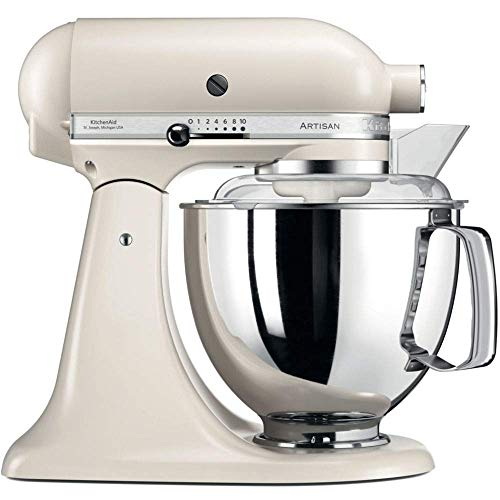 KitchenAid Artisan - Robot de cocina (4,8 L), color blanco