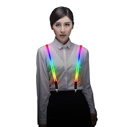 MORLIGHT Damen Leuchten LED Hosenträger Verstellbare One-Size für Party-Konzert-Kostüm 44