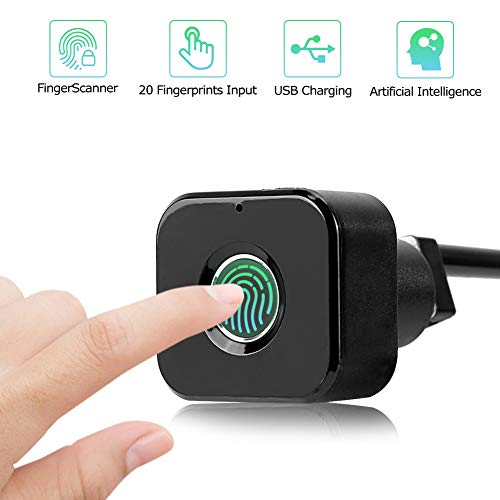 Smart Lock, diefstalbeveiliging Biometrische vingerafdruk Digitaal USB-veiligheidsslot voor ladekast Lockerkast Garderobe
