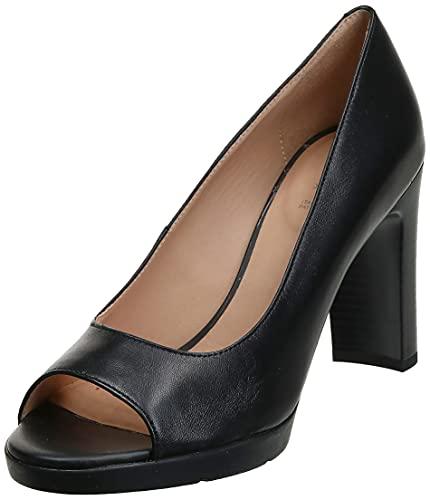 Geox Damen D ANNYA HIGH Sandal D Peeptoe Pumps, Schwarz (Black C9999), 41 EU