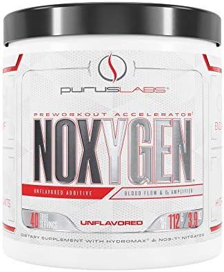 Purus Labs Noxygen Preworkout Accelerator, Unflavored, 40 Servings, 3.9 Oz