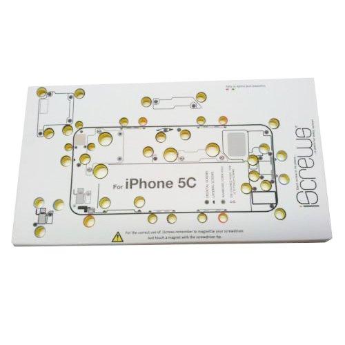 BisLinks Sostituzione iScrews professionale riparazione organiser foglio vassoio per iPhone 5C solo