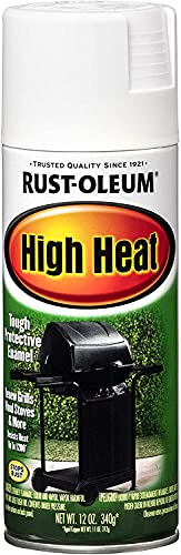 Rust-Oleum 7751830-6PK High Heat Spray Paint, 12 Ounce (Pack of 6), White