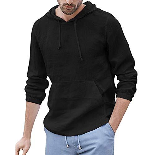 Yowablo Polo T-Shirt Homme Polo à Manches Homme Golf Poloshirt Homme Polo Homme Manche Courte Chemise Polo Homme (L,Noir)