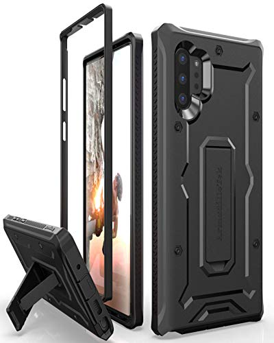 ArmadilloTek Vanguard Designed for Samsung Galaxy Note 10+Plus / Note 10 Plus 5G Case (2019 Release) Military Grade Full-Body Rugged with Kickstand Without Built-in Screen Protector - Black