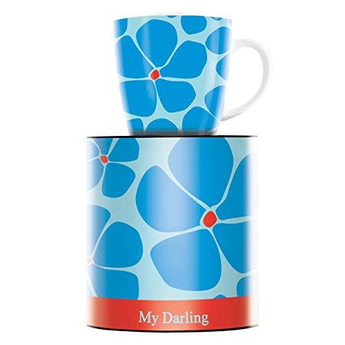 Ritzenhoff My Darling Kaffeebecher, Porzellan, Blau, Rot, 8.9 cm
