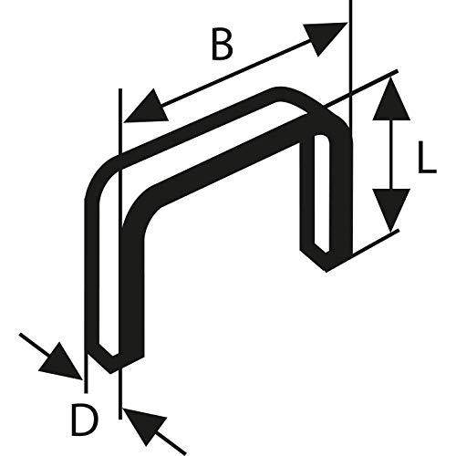 Bosch Professional Feindrahtklammer Typ 53 (für Textilien, Pappe, flache Holzleisten und Drahtgeflechte, Zubehör für Tacker)