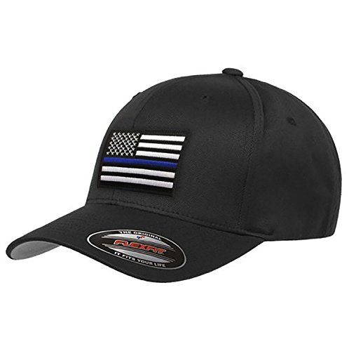 Thin Blue Line Flexfit Hat American Flag XL/2XL