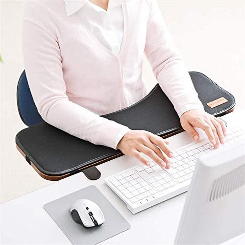 SK Studio Ergonomie Schreibtisch Extender, Tastatur-Handgelenkauflage,Tabelle Mounted Armlehne Regal Elbow Ablageständer, um Kippen und Fold-Down Braun 65x23x2cm