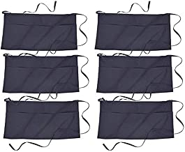 North End Easy Care Three Patch Pockets Waist Apron (6 Pack, Navy)