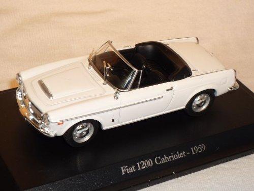 Unbekannt FIAT 1200 Cabrio Cabriolet 1959 Weiss 1/43 De Agostini Modell Auto Modellauto
