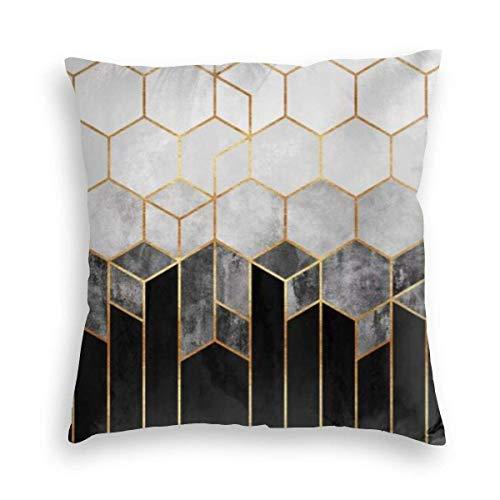 MayBlosom Fundas de almohada cuadradas de terciopelo de color carbón, para sofá, silla, dormitorio, coche, 45,7 x 45,7 cm