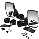 OxGord UTV Rear View Side Mirrors Shatter-Proof, Universal Best for 1.6' - 2' Roll Cage Bar, Adjustable Arm - High Impact Tempered Glass 2-pack