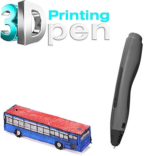 SCJ Brosse 3D Stylo d'impression cryogénique 3D, avec Filament, Jouet de Bricolage pour Enfants, Stylo d'impression 3D, pour Les Enfants Adultes