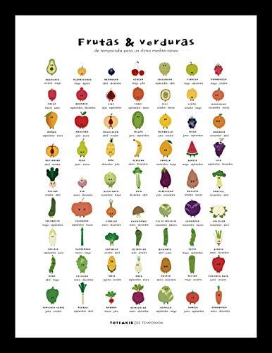 Póster calendario de frutas y verduras de temporada
