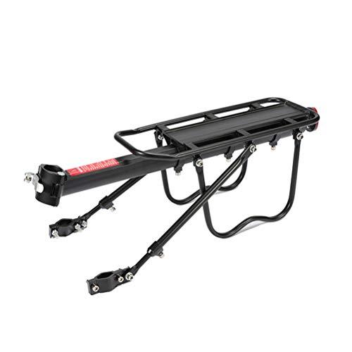 Mgsiko Bicycle Pannier Rack, Mountain Bike Pannier Rack, Adjustable Carrier Seat Post Bicycle Carrier Rear Pannier Rack Racks with Reflector for Bicycle Mountain Bike