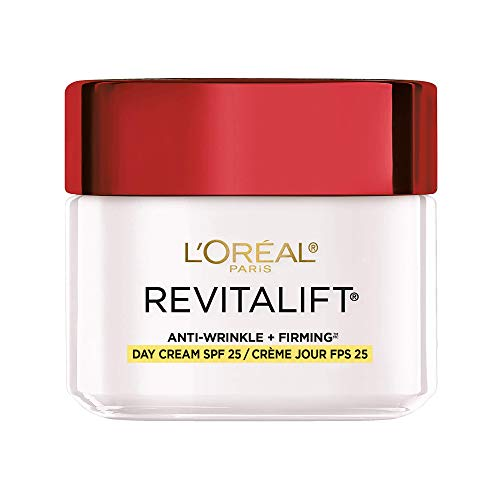 Face Moisturizer with SPF 25 by L'Oreal Paris, Revitalift Anti-Aging Face Moisturizer with Pro-Retinol and Centella Asiatica, Paraben Free, Suitable for Sensitive Skin, 2.55 oz. (Packaging May Vary)