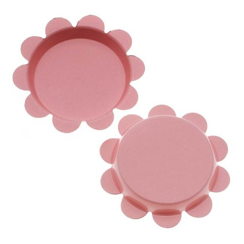 Beadaholique New Light Pink Flower Bottle Caps Craft Scrapbook Jewelry No Liners 25mm (24)