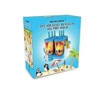 HelpCuisine® Stampi ghiaccioli - Stampi per gelati realizzati in plastica di alta qualità priva di BPA e approvata dalla FDA, ideale per la preparazione di ghiaccioli, gelati, sorbetti,(Blu) #1