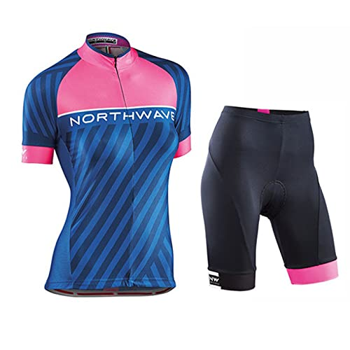 HXPainting Mujer Maillot Ciclismo Jersey Mangas Cortas + 9D Gel Shorts Ciclismo...