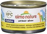 Almo Nature Comida Húmeda Natural de Pollo, Zanahoria y Arroz latas x Alimento para Perros Monoproteíco Enlatado HFC Cuisine. Snack Complementario sin Gluten, 95 g (Paquete de 24), 2280